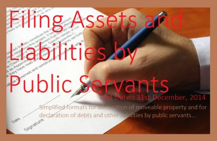 Filing Assets and Liabilities