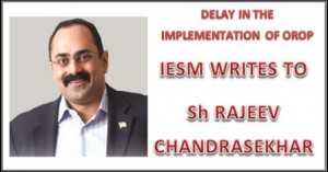 IESM WRITES TO RAJEEV CHANDRASEKAR
