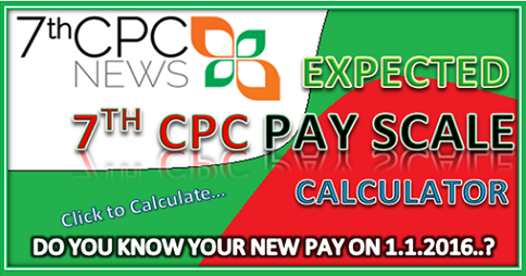 Expected Pay Scale Table of 7th Pay Commission — CENTRAL