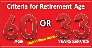 7th CPC on Retirement age