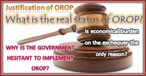 Jsutification of OROP