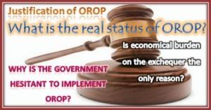 Jsutification of OROP