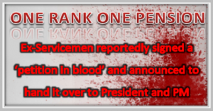 OROP SIGN WITH BLOOD