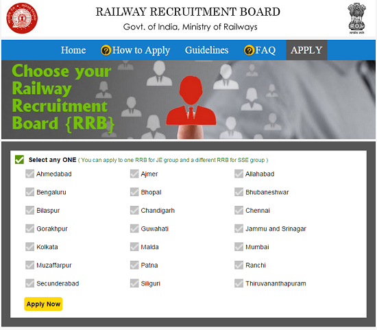RRB Employment Notice for application