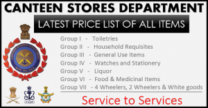 csd price list of all items