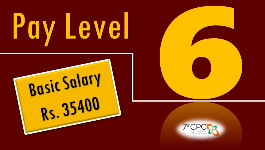 pay matrix table for level 6 hand salary